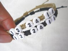 Couples Bracelets Set Anniversary Date Bracelets His and by LDnest, $15.99