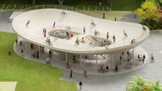 In a move likely to inflict a sudden pang of inadequacy in bicycle clubs the world over, NL Architects has cooked up a concept both radical and supremely simple: a bicycle club with a velodrome on the roof.
