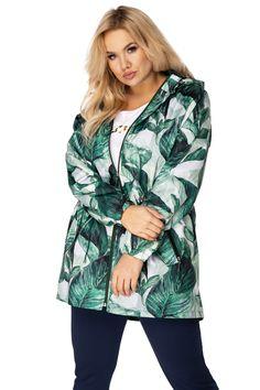 Nepremokavá tenká parka s kapucňou a vzorom - ROUZIT. Parka, Hooded Jacket, Trendy, Athletic, Jackets, Fashion, Dress, Jacket With Hoodie, Down Jackets