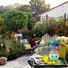 Sweet little rooftop garden