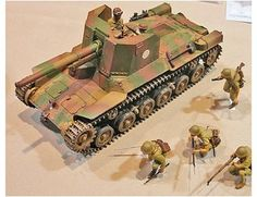 The Tamiya Japanese Type 1 Tank with Crew Model Kit in scale from the plastic tank model kits range accurately recreates the real life Japanese self-propelled gun from World War II.