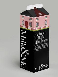 Milk & Me - Fresh by A Beautiful Design , via Behance