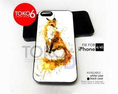 AJ 1514 Splash Watercolor Fox - iPhone 4/4s Case | toko6 - Accessories on ArtFire