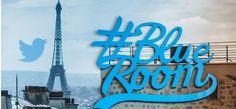 """#BlueRoom #star // Basée à Paris dans les locaux de Twitter France, cet espace de convivialité dédié aux échanges entre les personnalités et leurs publics sur Twitter. Sportifs, artistes et personnalités pourront ainsi se filmer et échanger en direct avec leur communauté sur Twitter dans cette salle équipée de micros, de caméras et d'écrans. Les stars ont le choix : elles peuvent se filmer en direct avec Periscope, répondre à des tweets ou encore faire des """"Vine"""".  [Août 2015]"""