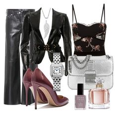 """Sexy velvet blazer"" by evipane on Polyvore featuring La Perla, Calvin Klein 205W39NYC, Gucci, Michael Kors, Avon and Guerlain"