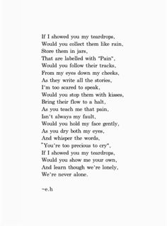Holy shit, this is honestly one of the most amazing poems I've ever read in my entire life. So beautiful ❤️