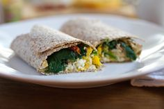 This quick and healthy Mediterranean-inspired wrap is perfect for hectic mornings. @pinterest