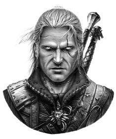 "Another online commission piece finished!  Geralt of Rivia from The Witcher -22""x25"" -Pencils; H, 2B, 7B -paper stumps -motorized eraser"