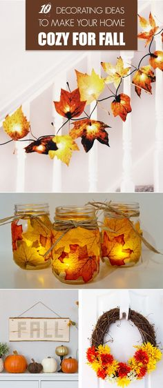 10 Decorating Ideas to Make Your Home Cozy for Fall - easy and cheap DIY fall decorations