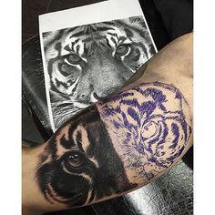 ... jumillaolivares Siberian tiger inner arm tattoo process! @natgeo