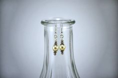 Bead Earrings, Crystal Earrings, Faceted Crystal, Round Beads, Glass Vase, Champagne, Opal, Etsy Shop, Pearls