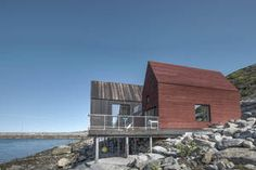 The Game Board by Pir II is located in Stokkøya, Norway Award 2016 © Pir II / Pasi Aalto Haus Am See, Container Cabin, Cottage Exterior, House In The Woods, Modern Rustic, Bungalow, Facade, Small Spaces, Building A House