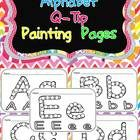 This packet includes pages for students to use for Q-Tip painting for all uppercase and lowercase letters.  This would make a great literacy center...