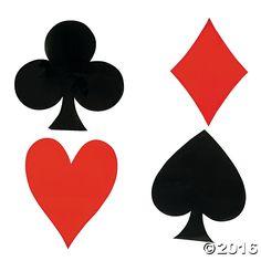 Jumbo Card Suit Cutouts - OrientalTrading.com