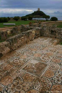 NORA (Sardegna) Pavimento a mosaico di casa romana