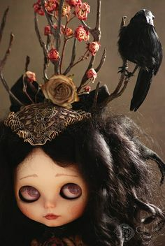 "Déjà vu  Bitter liquid between my lips, a feeling of Déjà vu,  Olivian Blythe doll custom by ""Cookie dolls""  © All rights reserved"
