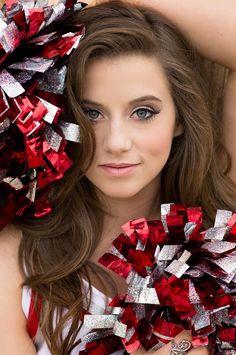 Senior Portrait / Photo / Picture Idea – Cheer / Cheerleader / Cheerleading On Cheerleading Picture Poses, Senior Cheerleader, Cheer Picture Poses, Cheer Poses, Nfl Cheerleaders, Picture Ideas, Photo Ideas, Photo Tips, Dance Team Pictures