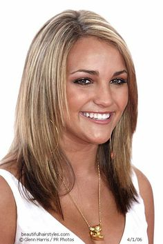 Jamie Lynn Spears with Perfect Blonde Highlights in Layered Cut - Beautiful Hairstyles