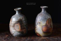備前焼 Bizen Pottery Sake Bottles
