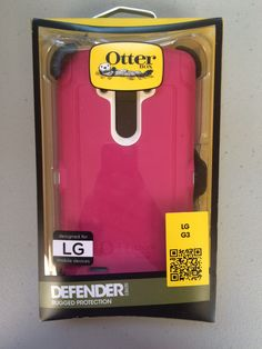 New Pink Genuine AUTHENTIC OtterBox Defender Series Case Cover for LG G3