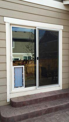 The best sliding glass door dog doors in Denver and Raleigh Window Dog Door, Sliding Door Dog Door, Patio Dog Door, Best Sliding Glass Doors, Door Decks, Sliding Door Systems, Sliding Patio Doors, Doggy Doors, In Glass Pet Door