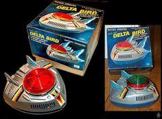 Space Ship Delta Bird, without box, 33,02 € (22/01/14, orange dome version)
