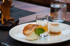 Caipirinha Variation: Hotshot, Mousse, Sorbet Sorbet, Fine Dining, Camembert Cheese, Mousse, Restaurant, Dinner, Food, Food Menu, Caipirinha