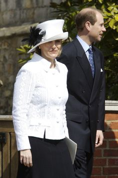Prince Edward & Sophie, Countess of Wessex..April 8, 2007 Easter services at St. George's Chapel