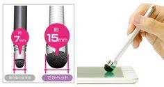 ファイバーヘッド なめらかタッチペン for スマートフォン/タブレット(でかヘッドタイプ)