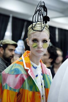 Thom Browne Spring 2015: Backstage Beauty