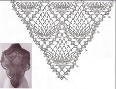 Фотки Новости Puff the Magic Dragon tabs for Tin Whistle crochet shawl patterns More To The Point - free crochet shawl pattern by C. Crochet Shawls And Wraps, Crochet Poncho, Knitted Shawls, Crochet Scarves, Crochet Lace, Free Crochet, Shawl Patterns, Crochet Stitches Patterns, Crochet Diagram