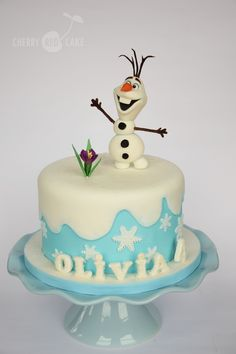 Frozen Snowman, Snowman Cake, Olaf Snowman, Frozen Cake, Frozen Party, 4th Birthday Cakes, 8th Birthday, Birthday Ideas, Princess Wedding Cakes