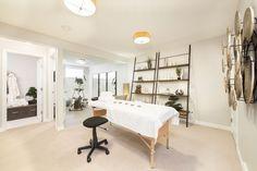 Lower Level massage table :) Massage Table, Saunas, At Home Gym, Spa, Luxury, Home Decor, Decoration Home, Room Decor, Interior Design