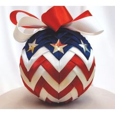 My favorite source for arts and crafts: American Spirit Ribbon Ornament Kit