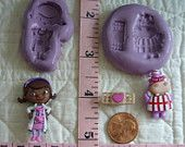 #Doc McStuffins Hallie Set #Food Safe Silicone Mold for Fondant Gum Paste Pastillage Chocolate Candy Sugarcraft #Resin Clay Plaster DIY MoldCreationsNmore at Etsy.com