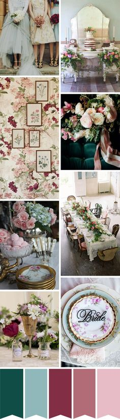 Eclectic Vintage Wedding Inspiration | see how to create this look over on www.onefabday.com