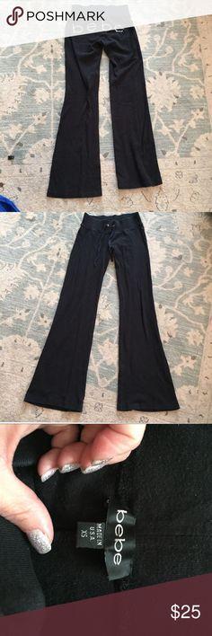 BEBE sweatpants BEBE black sweatpants with rhinestones on the back bebe Pants