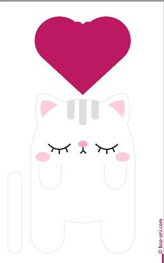 Cute cat bookmark printable