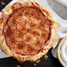 Layered Apple Pie With Phyllo Crust | It's all about the layers and ruffles in this dramatic seasonal pie.
