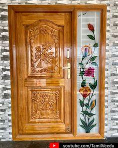 Single Main Door Designs, House Main Door Design, Single Floor House Design, Main Entrance Door Design, Wooden Front Door Design, Double Door Design, Pooja Room Door Design, Balcony Glass Design, Window Glass Design