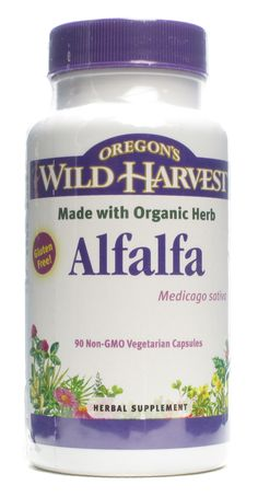 Oregon's Wild Harvest Alfalfa--Non-GMO (which is important with alfalfa as much of it is GMO!)  Good for final weeks of pregnancy to increase vitamin K