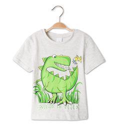 T-Shirt dans gris clair-chiné