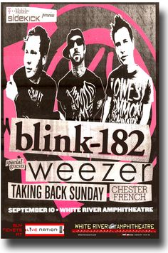 Blink 182 Poster Concert $9.84 #blink182