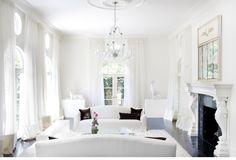 10 ideas para decorar  totalmente en blanco .