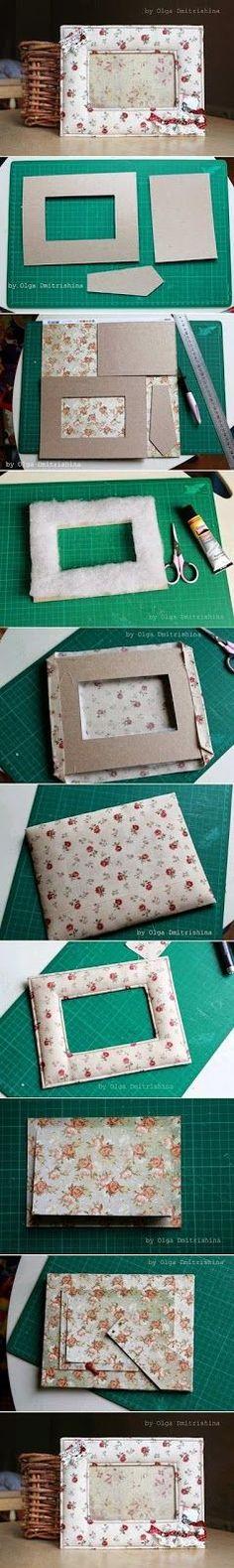 Beste DIY-Bilderrahmen und Bilderrahmen-Ideen - Nice Soft Photo Frame - How To M . Cadre Photo Diy, Diy Photo, Diy Projects To Try, Craft Projects, Creative Crafts, Diy And Crafts, Decor Crafts, Marco Diy, Fabric Crafts