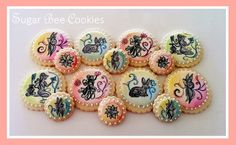 Pretty 'witch' cookies requested for a special birthday on the Spring Solstice.(Baked, designed, and painted by Krista Cook of Sugar Bee Cookies)
