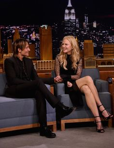 "Keith Urban and Nicole Kidman during a segment on ""The Tonight Show Starring Jimmy Fallon"" at Rockefeller Center on November 16, 2016 in New York City."