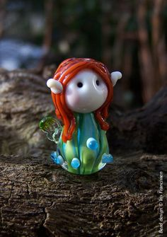 Wonderful+little+Dewdrop+Fairy+glassbead+by+Glaskralen+on+Etsy