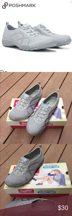 Sketchers Memory Foam Slip-on Sneakers Light gray slip-on Sketcher sneakers with memory foam foot bed. Worn a couple of times but not my style. Super comfortable and easy to wear all day. They look practically new, no major signs of wear that I can see. Skechers Shoes Sneakers