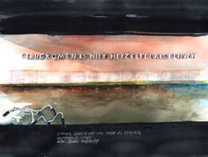 So simple and beautiful. It comes along with me for many years each time I visit A'dam. Now time was ready for my painting.  2014   #Amsterdam CS near Single   terugkomen is niet hetzelfde als blijven   coming back is not the same as staying   Artwork by Regina Verhagen   Poem by Belle van Zuylen   Watercolor Painting by Alexa Dilla   © 2014 Alexa Dilla